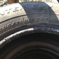 Продам 205/70R15 с минимальным износом