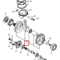 Коленчатый вал Yamaha WR450F