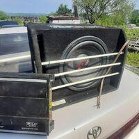Продам саб mac audio и усилитель , саб максимальная мощность 2000в