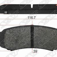 Колодки тормозные зад TOYOTA LAND CRUISER 80/90/105/120/78/150 (с кера