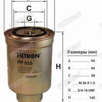 Фильтр топливный TOYOTA LAND CRUISER  90-/PRADO 90/120 96-/DYNA TOYOAC