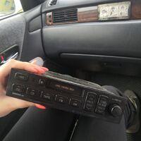 Штатный магнитофон на Crown jzs 15t