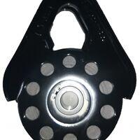 Полиспаст (блок-ролик) под кевларовый трос 10 мм/9 т черный 5679