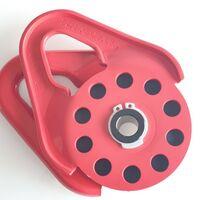Полиспаст (блок-ролик) под кевларовый трос 10 мм/9 т красный 5522