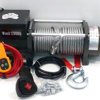Лебедка электрическая 12v electric winch grizzly 12000lbs / 5443 кг