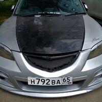 Спортивный бампер Mazda Axela 2003-2009 из стекловолокна