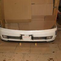 Бампер передний Nissan Cedric Y34, 99-04 год, туманки