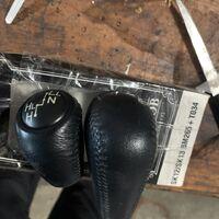 Ручка селектора и раздатки оригинал кожа 120-121-125 кузов