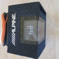 Продам сабвуфер Alpine 800wt + к нему усилитель Addzest