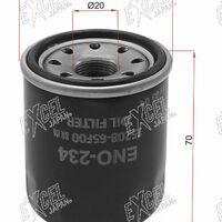 Фильтр масляный NISSAN QG#, MR20DE, QR20,25, SR20,VQ 20,25, HR#