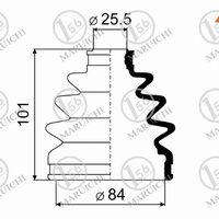 Пыльник ШРУСа наружный NISSAN WINGROAD/AD Y10 90-99/SUNNY B13 90-93/PR