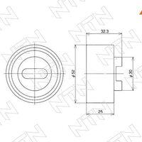 Натяжной ролик ремня ГРМ MAZDA B3/B5