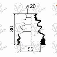 Пыльник ШРУСа внутренний TOYOTA VITZ/YARIS 1KRFE KSP90 05-