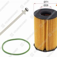 Фильтр масляный (картридж) VW TOUAREG 3,0 11-/AUDI Q7 3,0 07-15/A6/A7/