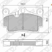 Колодки тормозные зад AUDI Q7 06-/ VW TOUAREG 02-