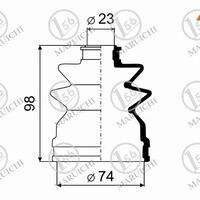 Пыльник ШРУСа наружный HONDA CR-V 11-/внутр NISSAN ALMERA N16 00-02/SU
