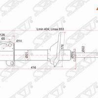 Стойка задняя SUBARU IMPREZA/LEGACY 92-98  RH 4WD