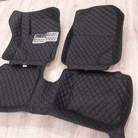 3D коврики Boost (черные) из эко кожи на Toyota Land Cruiser Prado 120