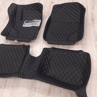3D коврики Boost (черные) из эко-кожи на Toyota Mark2 (2000-2004)