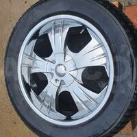 Комплект 20 хром дисков 5*150 на зимней резине 285/50/20