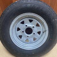 Запасное колесо на прицеп 155/R12    5x114.3 (оцинкованное)